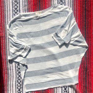 Fantastic Fawn striped dolman sleeve